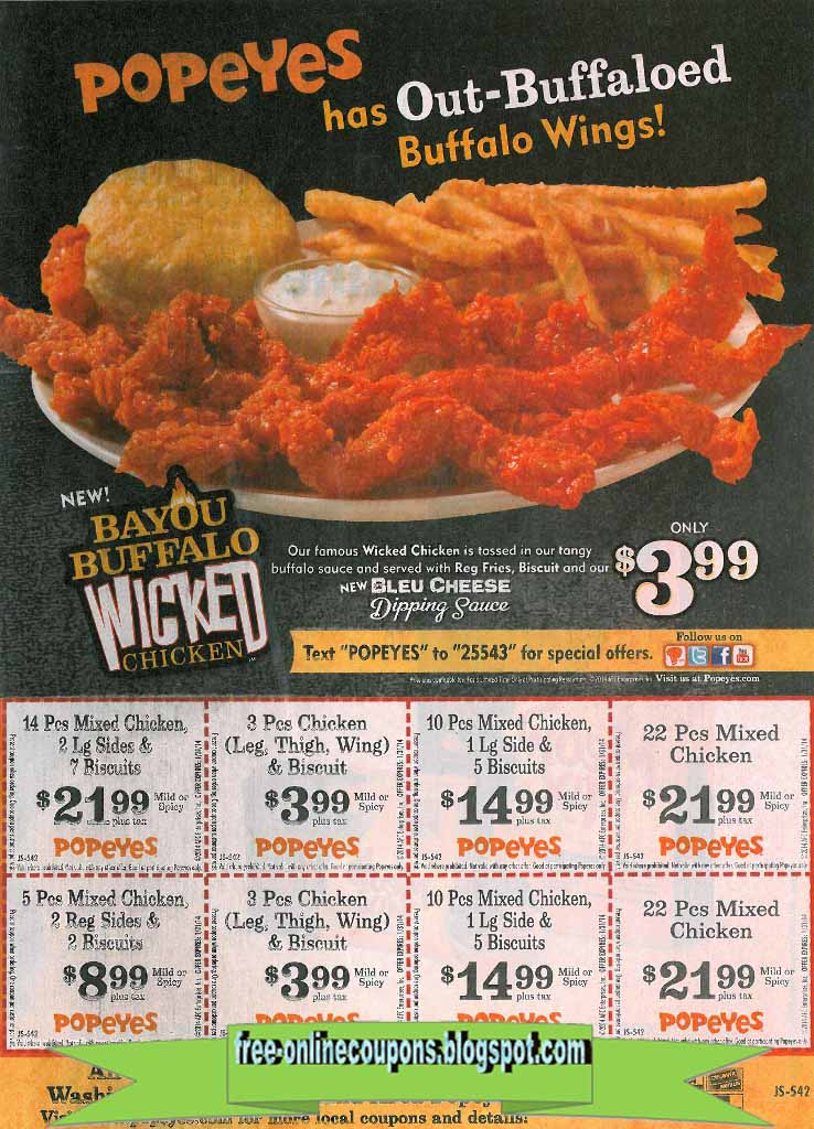 popeyes coupons aug 2019