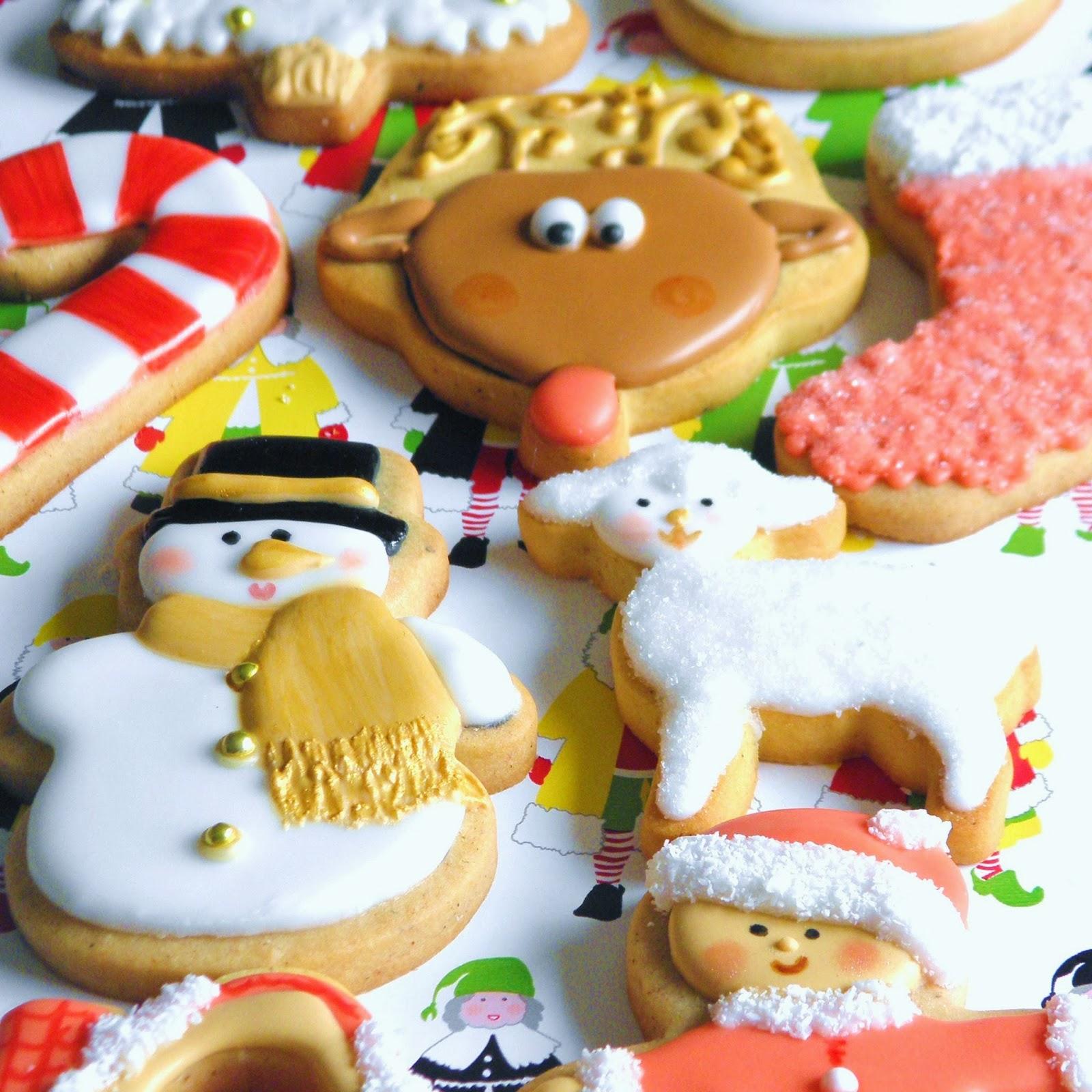 Cajitas De Galletas Galletas Decoradas De Navidad