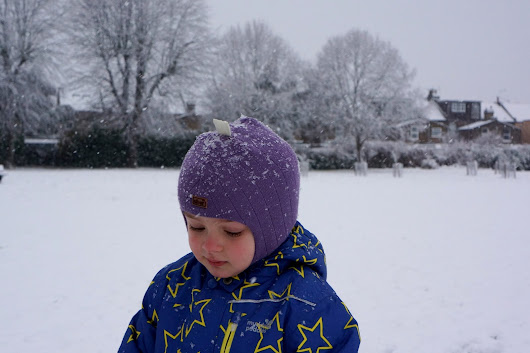 Enjoying the first snow day of this winter in London!