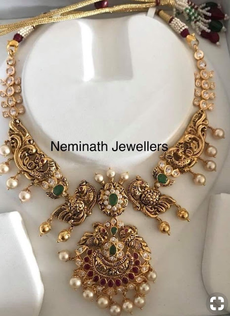 Peacock Choker by Neminath Jewellers