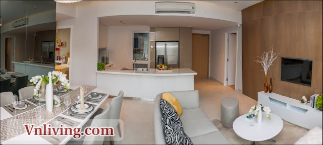 Masteri Thao Dien Apartment for rent 3 bedrooms luxury style
