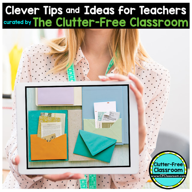 Are you hoping to improve student organiztion? This classroom organization tip will help elementary teachers add pockets to student journals and notebooks.