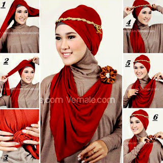 Kreasikan Hijabmu dengan Tutorial Hijab with Headband