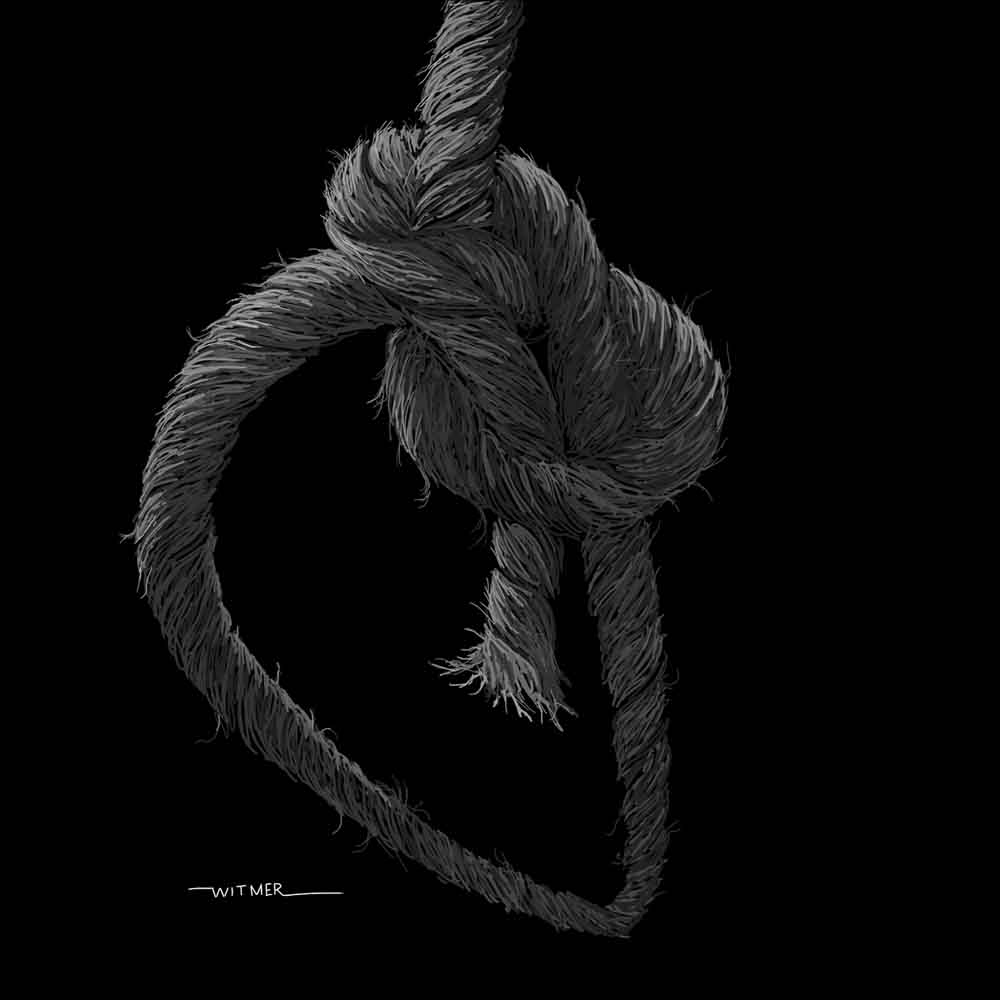 Kirk Witmer Fine Art Bowline Knot Gif The Pronounced 39 Unlike Previous Drawing Done From A Photo This Was Out Of My Head And Hard Part Laying It So That Actually Looked Like