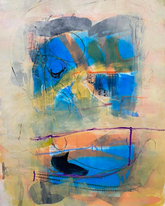 REE KATRAK mixed media, abstract art. studio 6