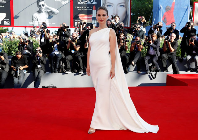 HQ Photos of Pregnant Natalie Portman in White Dress At Planetarium Premiere At 2016 Venice Film Festival