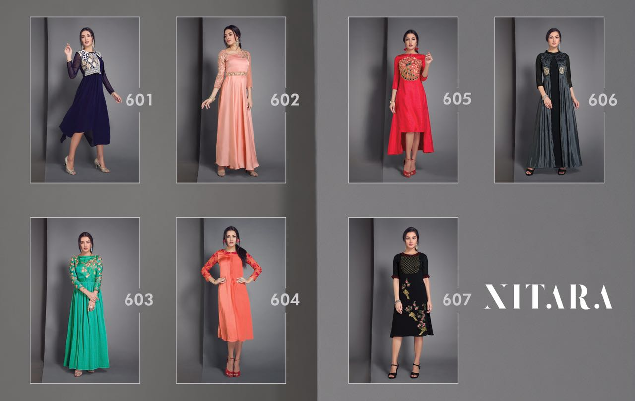 NITARA- New Arrival Designer Party Wear Kurti