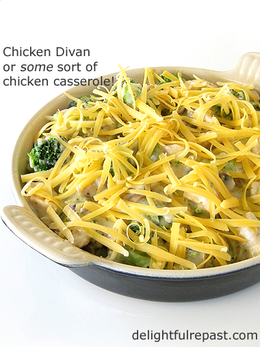 Chicken Divan - Chicken Casserole / www.delightfulrepast.com