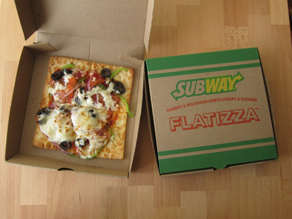 review subway flatizza brand