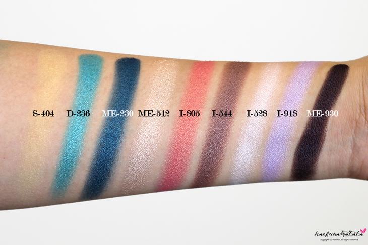 Make Up For Ever Floral Volume 3 Artist Palette Review & Swatches: S-404, D-236, ME-230, ME-512, I-805, I-544, I-528, I-918, ME-930