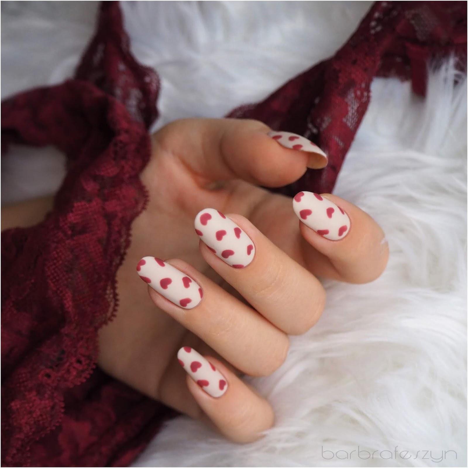 Proste Walentynkowe Paznokcie Ncla Barbrafeszyn Blog O