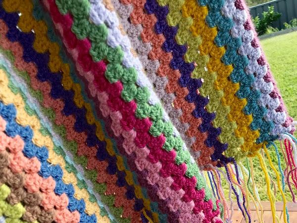 CROCHET: Granny Stripe Blanket {progress}
