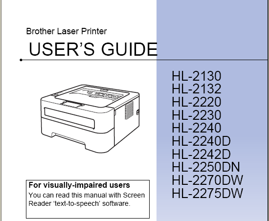 brother hl 2270dw manual user guide printer manual guide rh printermanualguides blogspot com brother printer troubleshooting user guide brother printer troubleshooting guide for mac