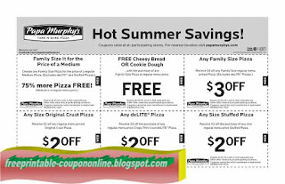 Print out coupons for Papa Murphys. BeFrugal updates printable coupons for Papa Murphys every day. Print the coupons below and take to a participating Papa Murphys to save.