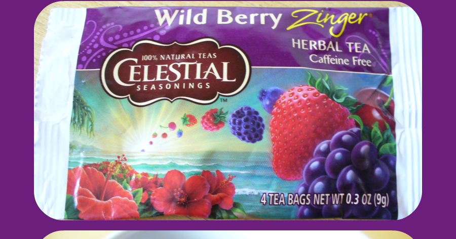 Folha do Chá Wild Berry Zinger Celestial Seasonings