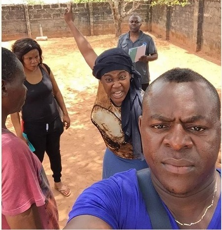 Mercy Johnson Returns to Movie Set After One Year Vacation in USA (Photos)