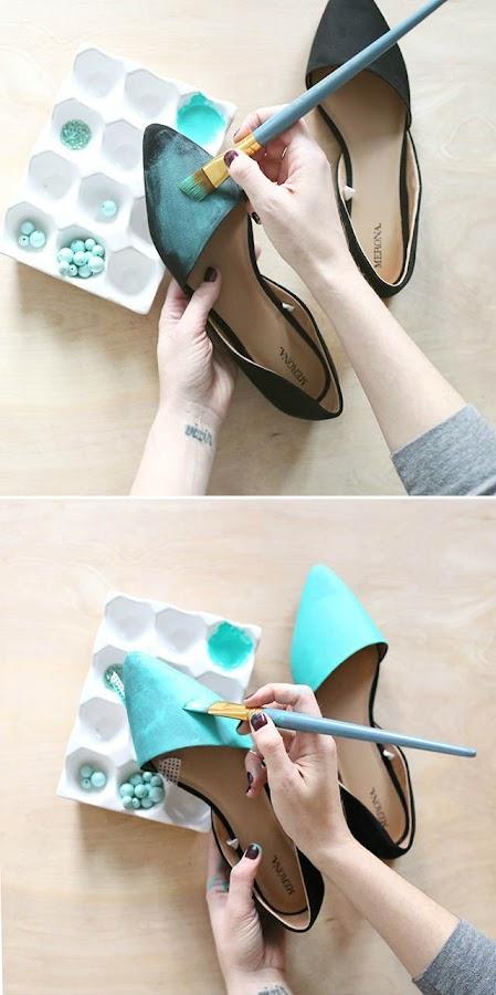 Paso 1 para customizar zapatos, pintura