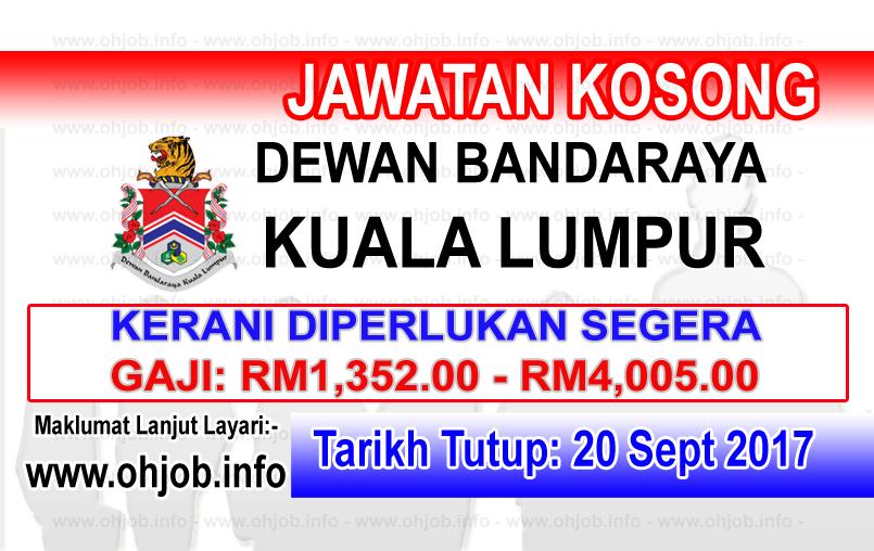 Jawatan Kerja Kosong DBKL - Dewan Bandaraya Kuala Lumpur logo www.ohjob.info september 2017