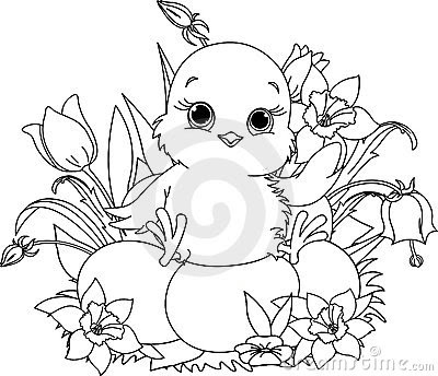 easter coloring pages chicks