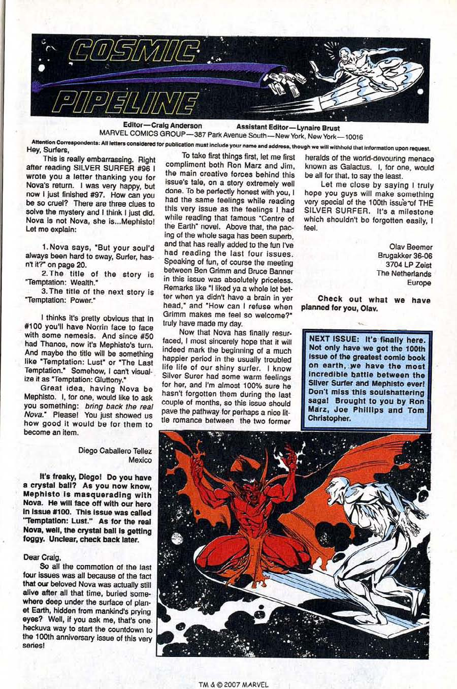 Read online Silver Surfer (1987) comic -  Issue #99 - 33