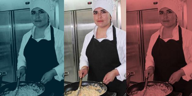 imagen cocinera a 3 colores