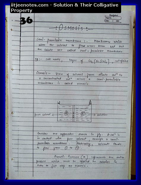 Solution and Their Colligative Property Notes IITJEE4