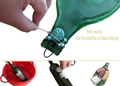 Cómo aplanar ó allanar botellas  de cristal paso a paso