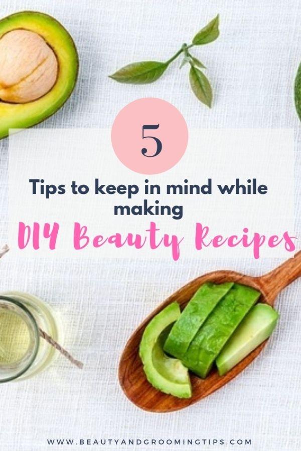 homemade beauty recipes making tips
