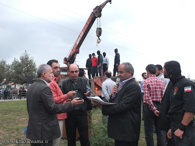 Public execution of an 18-year-old youth in Ghaemshahr on Sep. 14, 2013