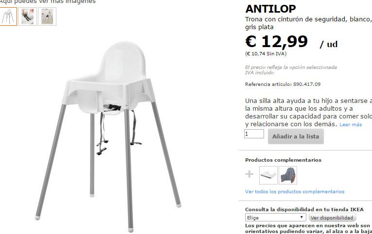 Pipindira mam trona antilop de ikea - Ikea todos los productos ...
