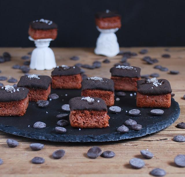 Bocados de chocolate, caramelo y sal - Dulces bocados