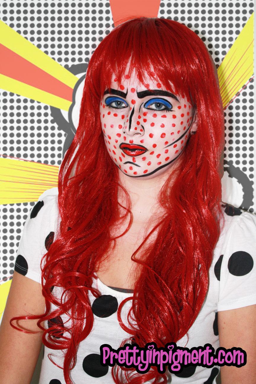Cartoon Makeup: Cartoon Pop Art Makeup Look + Tutorial