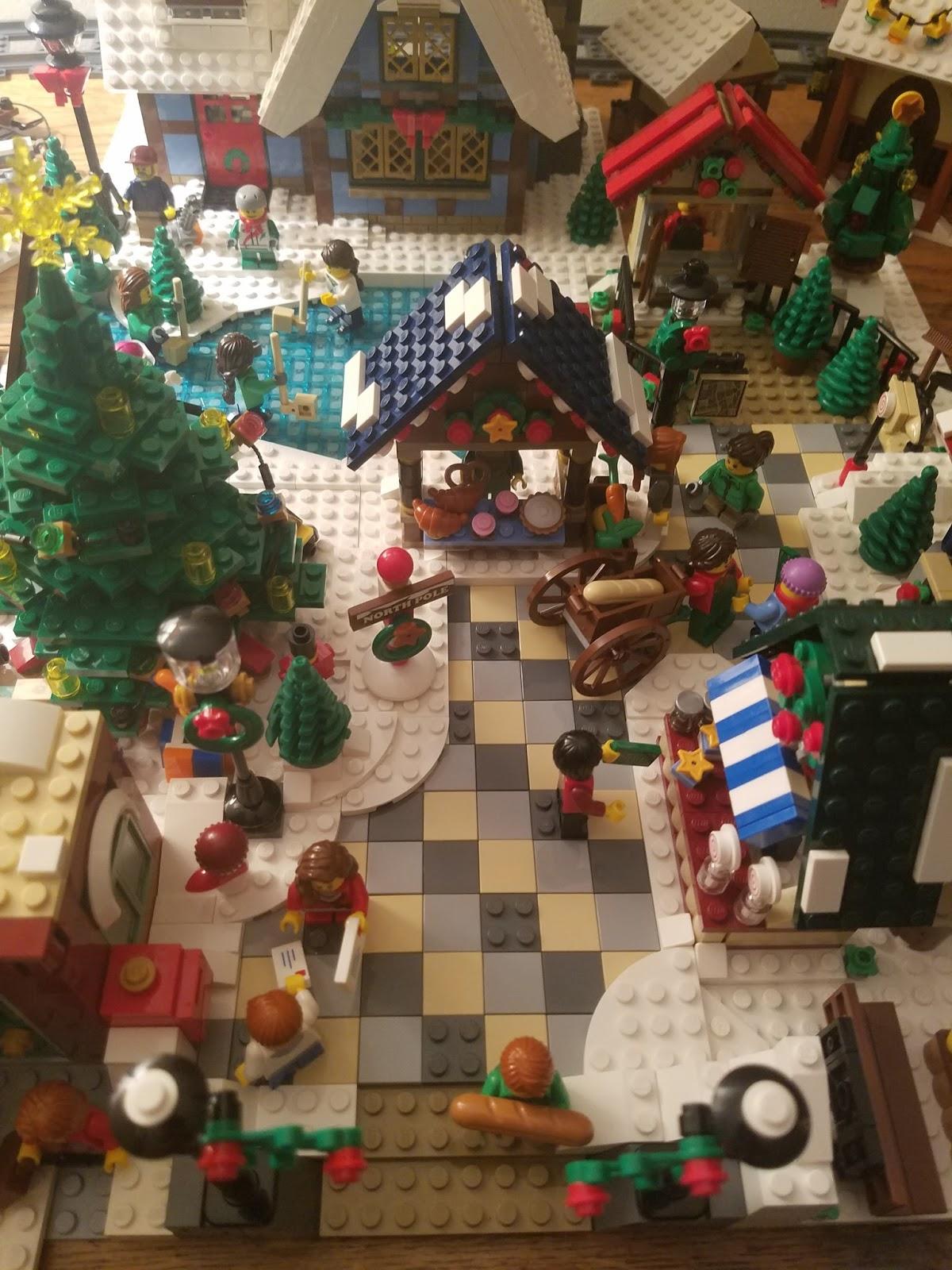Village Christmas Tree Stand.Playing With Bricks Custom Lego Winter Village 2017 Edition