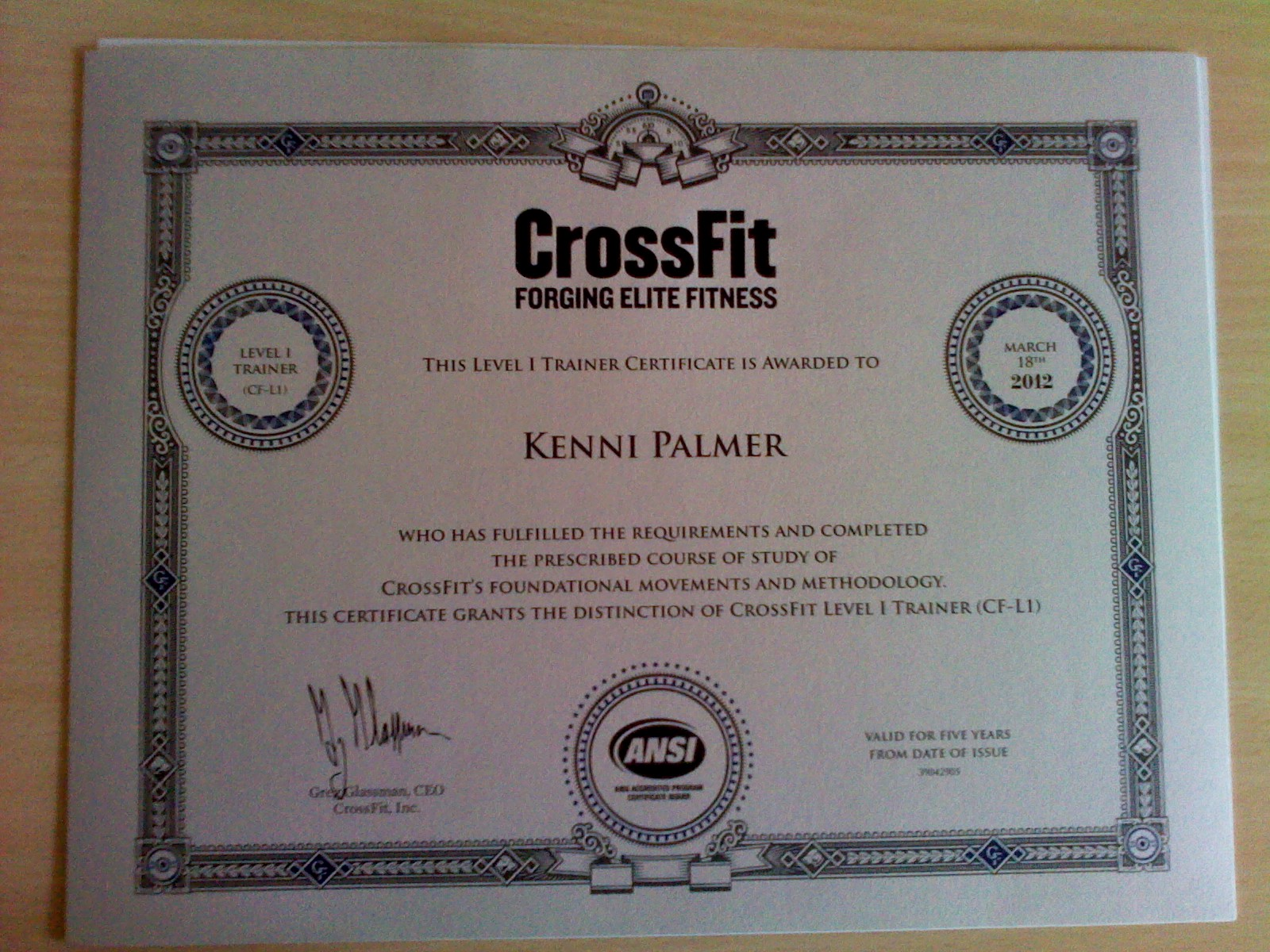 crossfit cf l1 level certificate certification trainer hats harry sharing others forward