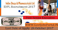 Indian Drugs & Pharmaceuticals Limited Recruitment 2017– Senior Executive