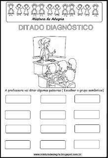 Volta às aulas- ditado diagnóstico
