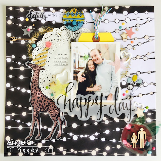 Happy Day Bro Scrapbook Layout by Angela Tombari for Yuppla Craft DT