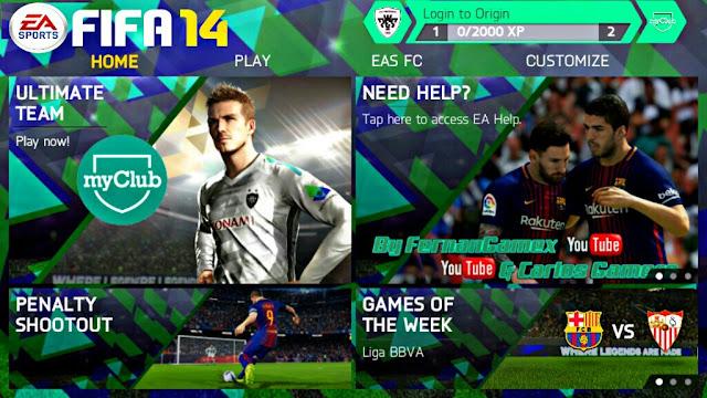 Dowmload FIFA 14 MOD PES 2018 Android Offline New Menu PES