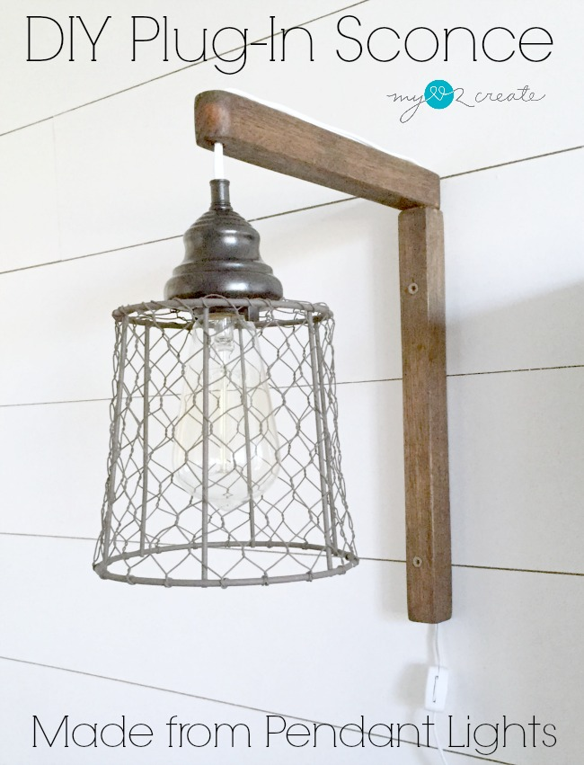 DIY Sconce, plus 12 other lighting ideas, MyLove2Create