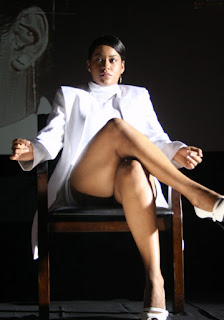 Mumaith Khan Hot Leggy Pics In White Dress