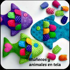Muñecos y juguetes de tela