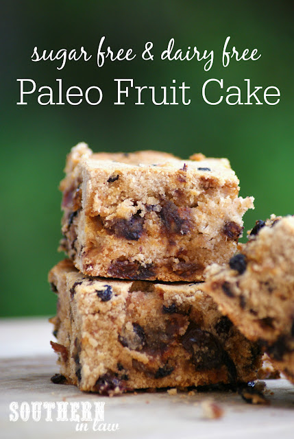 Easy Paleo Fruit Cake Recipe - gluten free, grain free, low carb, sugar free, healthy, dairy free,  peanut free, low fat, clean eating recipe