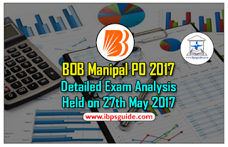 BOB Manipal PO 2017- Detailed Exam Analysis Held on 27th May 2017