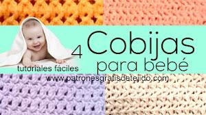 Cobijas para bebés a crochet para tejer en casa / 4 tutoriales