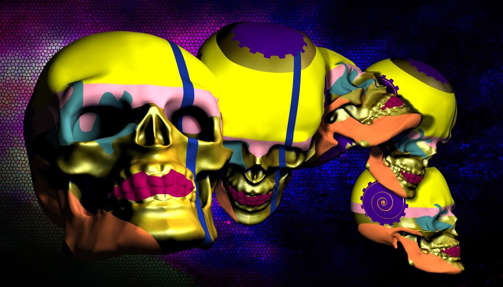Wallpaper Smartphone 3d Sfondi Per Desktop Teschi Wallpapers Skull