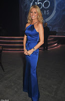 TESS DALY SHOWS OFF HER SVELTE FIGURE IN A SLINKY SILK DRESS WITH A HALTERNECK CUT AS SHE PARTIES UP A STORM AT IWC GALA IN SWITZERLAND