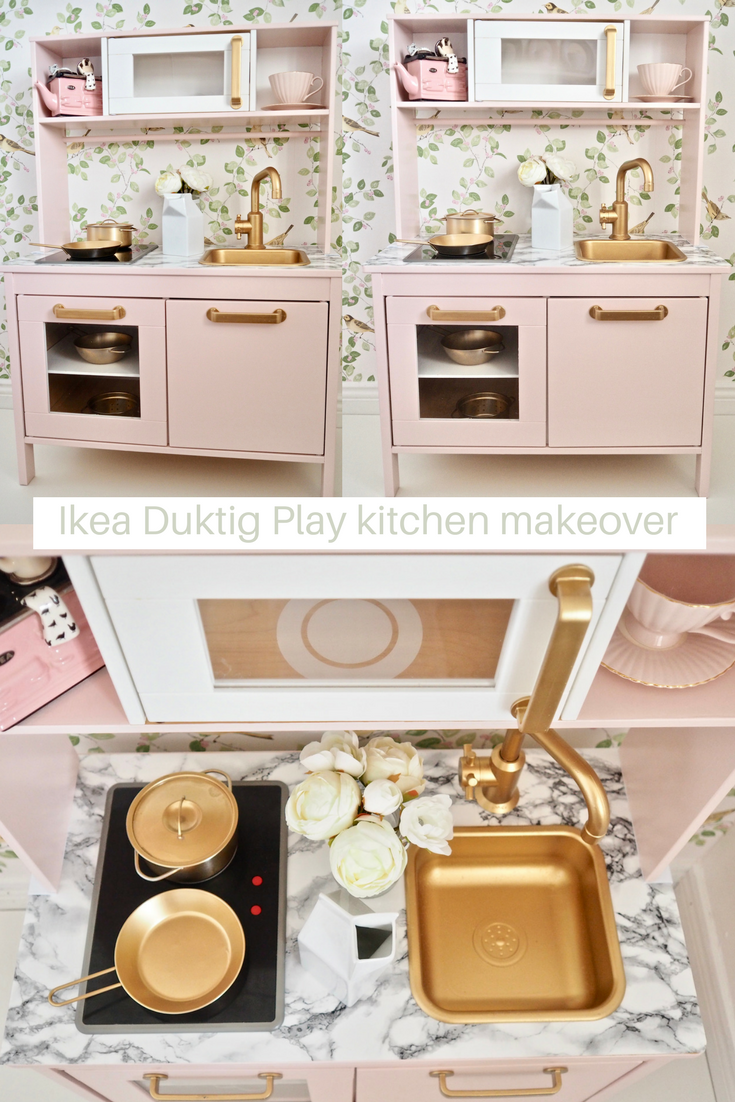 ikea duktig play kitchen makeover the dainty dress diaries. Black Bedroom Furniture Sets. Home Design Ideas
