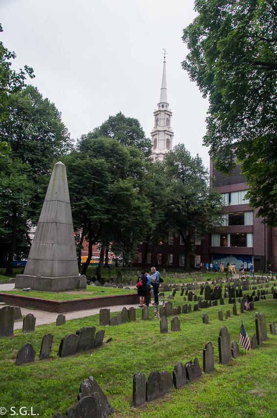 Granary burying ground Boston - The freedom trial
