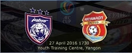 siaran langsung JDT Vs Ayeyawady United 27 April 2016
