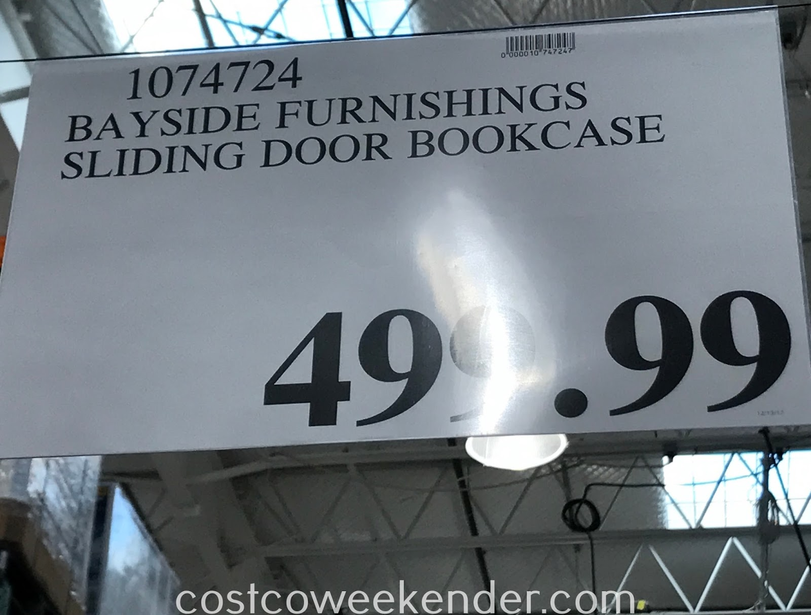 Deal for the Bayside Furnishings Sliding Door Bookcase at Costco